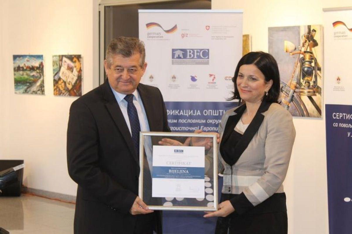 Urucenje sertifikata_Grad Bijeljina