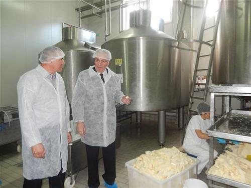 Stevo Mirjanić u mljekari Pađeni